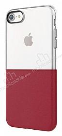 Eiroo Half to Life iPhone 7 / 8 Bordo Silikon Kılıf