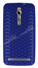 Eiroo Honeycomb Asus Zenfone 2 Lacivert Silikon Kılıf