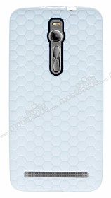 Eiroo Honeycomb Asus Zenfone 2 Beyaz Silikon Kılıf