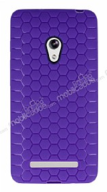 Eiroo Honeycomb Asus Zenfone 5 Mor Silikon Kılıf