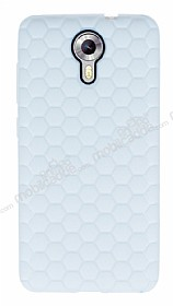 Eiroo Honeycomb General Mobile Android One Beyaz Silikon K�l�f