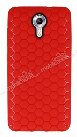 Eiroo Honeycomb General Mobile Android One K�rm�z� Silikon K�l�f