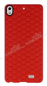 Eiroo Honeycomb General Mobile Discovery Air Kırmızı Silikon Kılıf