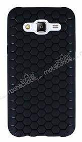 Eiroo Honeycomb Samsung Galaxy J5 Siyah Silikon Kılıf