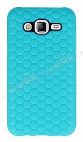 Eiroo Honeycomb Samsung Galaxy J5 Su Yeşili Silikon Kılıf