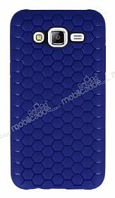 Eiroo Honeycomb Samsung Galaxy J7 Lacivert Silikon Kılıf