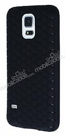 Eiroo Honeycomb Samsung Galaxy S5 Siyah Silikon Kılıf