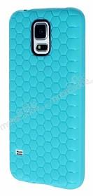 Eiroo Honeycomb Samsung Galaxy S5 Su Yeşili Silikon Kılıf