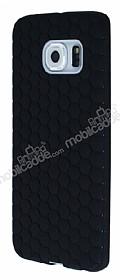 Eiroo Honeycomb Samsung Galaxy S6 edge Siyah Silikon Kılıf