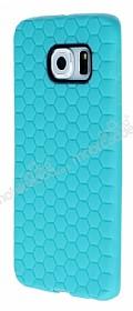Eiroo Honeycomb Samsung Galaxy S6 edge Su Yeşili Silikon Kılıf