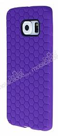Eiroo Honeycomb Samsung Galaxy S6 edge Mor Silikon Kılıf