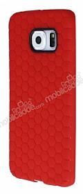 Eiroo Honeycomb Samsung Galaxy S6 edge Kırmızı Silikon Kılıf