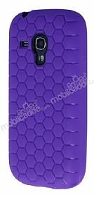 Eiroo Honeycomb Samsung i8190 Galaxy S3 Mini Mor Silikon Kılıf