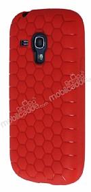 Eiroo Honeycomb Samsung i8190 Galaxy S3 Mini Kırmızı Silikon Kılıf