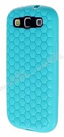 Eiroo Honeycomb Samsung i9300 Galaxy S3 Su Yeşili Silikon Kılıf