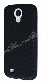 Eiroo Honeycomb Samsung i9500 Galaxy S4 Siyah Silikon Kılıf