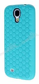 Eiroo Honeycomb Samsung i9500 Galaxy S4 Su Yeşili Silikon Kılıf