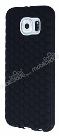 Eiroo Honeycomb Samsung i9800 Galaxy S6 Siyah Silikon Kılıf