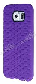 Eiroo Honeycomb Samsung i9800 Galaxy S6 Mor Silikon Kılıf