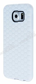 Eiroo Honeycomb Samsung i9800 Galaxy S6 Beyaz Silikon Kılıf