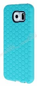 Eiroo Honeycomb Samsung i9800 Galaxy S6 Su Yeşili Silikon Kılıf