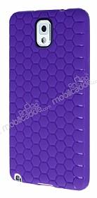 Eiroo Honeycomb Samsung N9000 Galaxy Note 3 Mor Silikon Kılıf