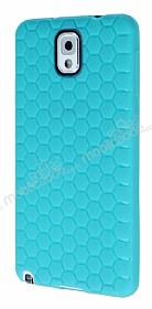 Eiroo Honeycomb Samsung N9000 Galaxy Note 3 Su Yeşili Silikon Kılıf