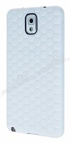 Eiroo Honeycomb Samsung N9000 Galaxy Note 3 Beyaz Silikon Kılıf