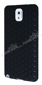 Eiroo Honeycomb Samsung N9000 Galaxy Note 3 Siyah Silikon Kılıf