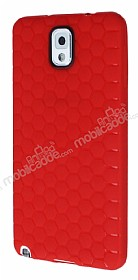 Eiroo Honeycomb Samsung N9000 Galaxy Note 3 Kırmızı Silikon Kılıf