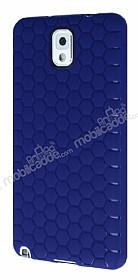 Eiroo Honeycomb Samsung N9000 Galaxy Note 3 Lacivert Silikon Kılıf