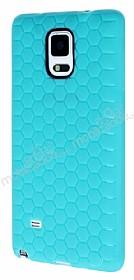 Eiroo Honeycomb Samsung N9100 Galaxy Note 4 Su Yeşili Silikon Kılıf