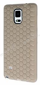 Eiroo Honeycomb Samsung N9100 Galaxy Note 4 Krem Silikon Kılıf