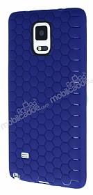 Eiroo Honeycomb Samsung N9100 Galaxy Note 4 Lacivert Silikon Kılıf
