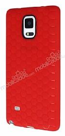Eiroo Honeycomb Samsung N9100 Galaxy Note 4 Kırmızı Silikon Kılıf