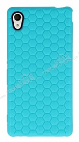 Eiroo Honeycomb Sony Xperia M4 Aqua Su Yeşili Silikon Kılıf