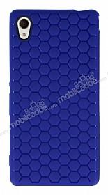 Eiroo Honeycomb Sony Xperia M4 Aqua Lacivert Silikon Kılıf
