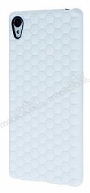 Eiroo Honeycomb Sony Xperia Z3 Plus Beyaz Silikon Kılıf