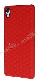 Eiroo Honeycomb Sony Xperia Z3 Plus Kırmızı Silikon Kılıf