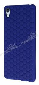 Eiroo Honeycomb Sony Xperia Z3 Plus Lacivert Silikon Kılıf