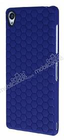 Eiroo Honeycomb Sony Xperia Z3 Lacivert Silikon Kılıf