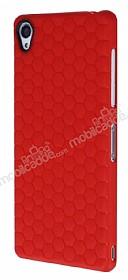 Eiroo Honeycomb Sony Xperia Z3 Kırmızı Silikon Kılıf
