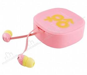 Eiroo İnfinity Mikrofonlu Kulakiçi Pembe Kulaklık