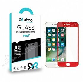 Eiroo iPhone 6 / 6S Curve Tempered Glass Full Kırmızı Cam Ekran Koruyucu