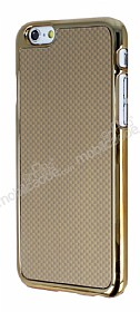 Eiroo iPhone 6 / 6S Gold Metal Kenarlı Gold Rubber Kılıf