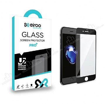 Eiroo iPhone 6 Plus / 6S Plus Curve Tempered Glass Full Siyah Mat Cam Ekran Koruyucu