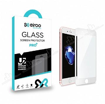 Eiroo iPhone 6 Plus / 6S Plus Curve Tempered Glass Full Beyaz Mat Cam Ekran Koruyucu