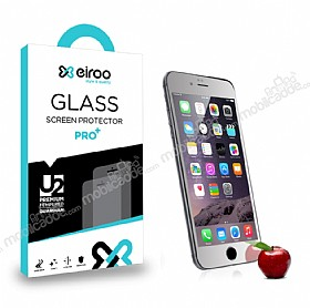 Eiroo iPhone 6 Plus / 6S Plus Tempered Glass Ayna Silver Cam Ekran Koruyucu