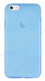 iPhone 6 Plus / 6S Plus Ultra İnce Şeffaf Mavi Silikon Kılıf