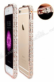 Eiroo iPhone 6 / 6S Ta�l� Snake Bumper �er�eve Rose Gold K�l�f